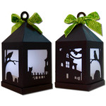 spooky hanging tea light lantern