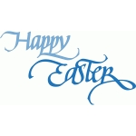 happy easter - calligraphy