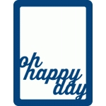 oh happy day mini placemat
