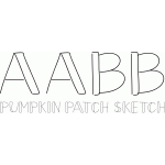 pumpkin patch sketch font