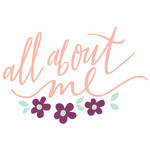 all about me handlettered