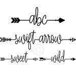 swift arrow font