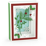 shadow box card holly