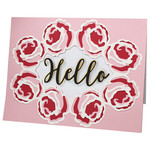 layered hello rose border card
