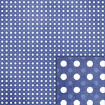 navy blue polka dots background paper