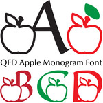 qfd apple monogram font