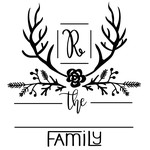 monogram family name frame