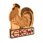 rooster feathers crow card
