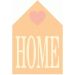 love home icon / badge