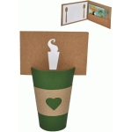 gift card envelope with coffee cup display