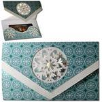 snowflake tri-fold gift card holder