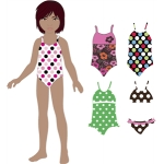 swimsuits for lizzy paper doll