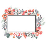 painted floral rectangle
