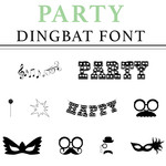 party dingbat font