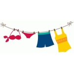 swimsuits on the line
