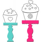 2 cupcake stands