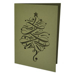 flourished christmas tree card