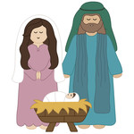 mary, joseph and baby jesus nativity