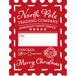 christmas holiday present sack label