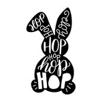 typographic easter bunny