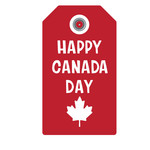 happy canada day tag