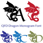 qfd dragon monogram font