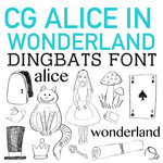 cg alice in wonderland dingbats