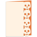 spooky skulls edged halloween card