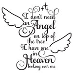 i don't need an angel christmas quote