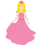 princess costume for lizzy paper doll