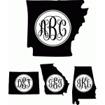 monogram basic script states A-Missouri Regular