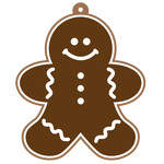 layered gingerbread tag