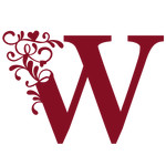 flourish heart monogram - w