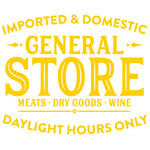 imported & domestic general store sign