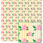 roses on stripes pattern