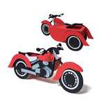 3d sidecar - motorcycle