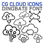 cg cloud icons dingbats