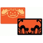 halloween layered flat journaling card set
