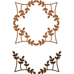 leaves frame - corner set