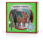 shadow box card scene - christmas reindeer
