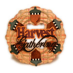 acorns harvest round card
