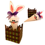 bunny carrot box with stand