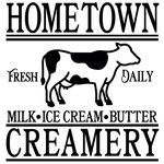 hometown creamery sign