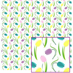 tulips on white pattern