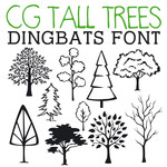 cg tall tree dingbats