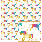 unicorn pattern on white