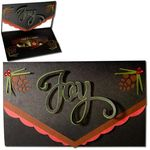 joy pine cone tri-fold gift card holder