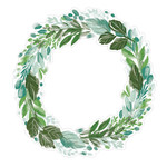 painted wreath leaves
