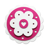rosette with hearts
