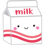 milk carton - milk & cookies